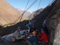 skylodge breakfast Sacred Valley Peru